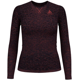 Odlo BL Blackcomb Light intimo Donna rosso/nero